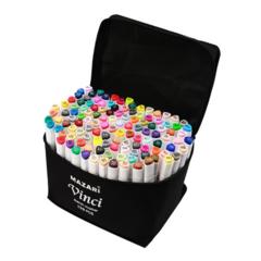Mazari Vinci набор маркеров для скетчинга 120 шт двусторонние спиртовые пуля/долото 1.0-6.2 мм