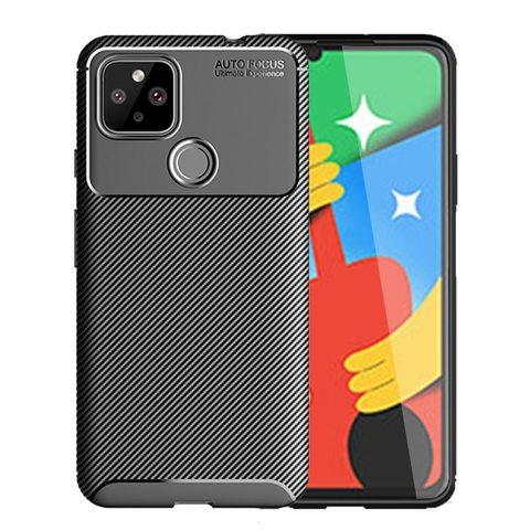 Силиконовый ударопрочный чехол Yuetao для Google Pixel 4a (Черный)