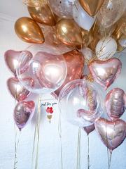 Оформление шарами для девушки