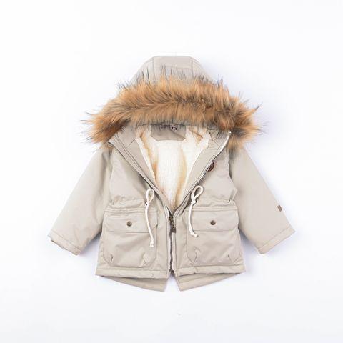 Winter membrane parka with fur - Olive