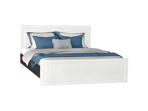 Кровать двуспальная Прага КР-904 160х200 Браво Мебель венге, белый