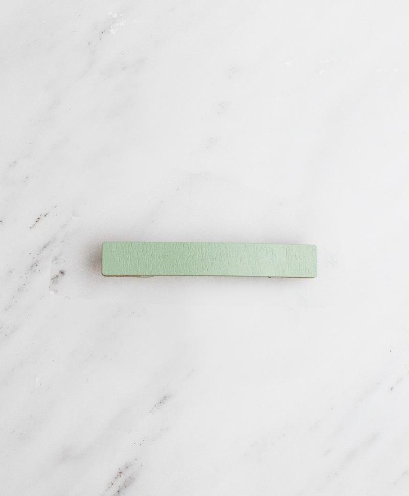 Заколка Bar Hair Clip mini мятного цвета