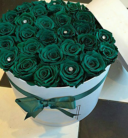 Букет из 31 зеленой розы
