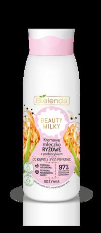 BIELENDA BEAUTY MILKY Рисовое кремовое молочко для душа с пребиотиком 400мл