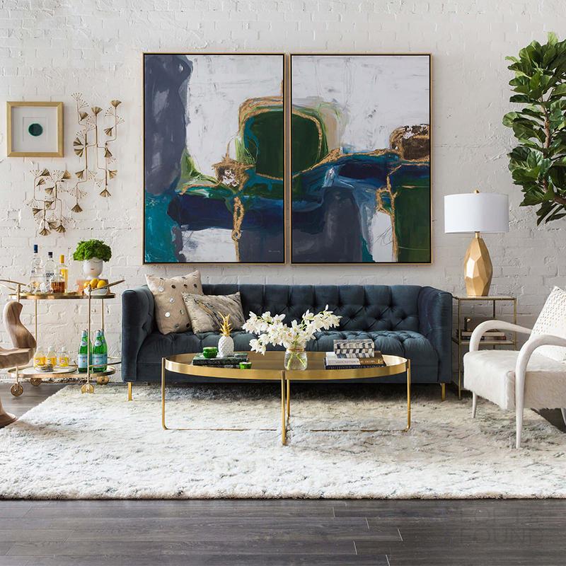 Журнальный столик Gaultier Modern Gold Oval Coffee Table