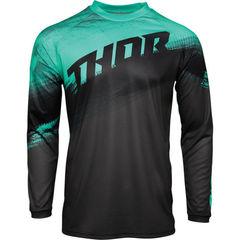 Джерси для мотокросса Thor Vapor черный-зеленый Размер L