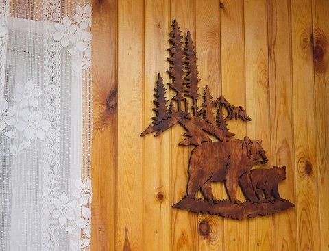 Панно ДекорКоми из дерева на стену Медведи