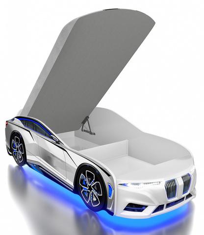 Кровать-машинка Romack Boxter-M белая