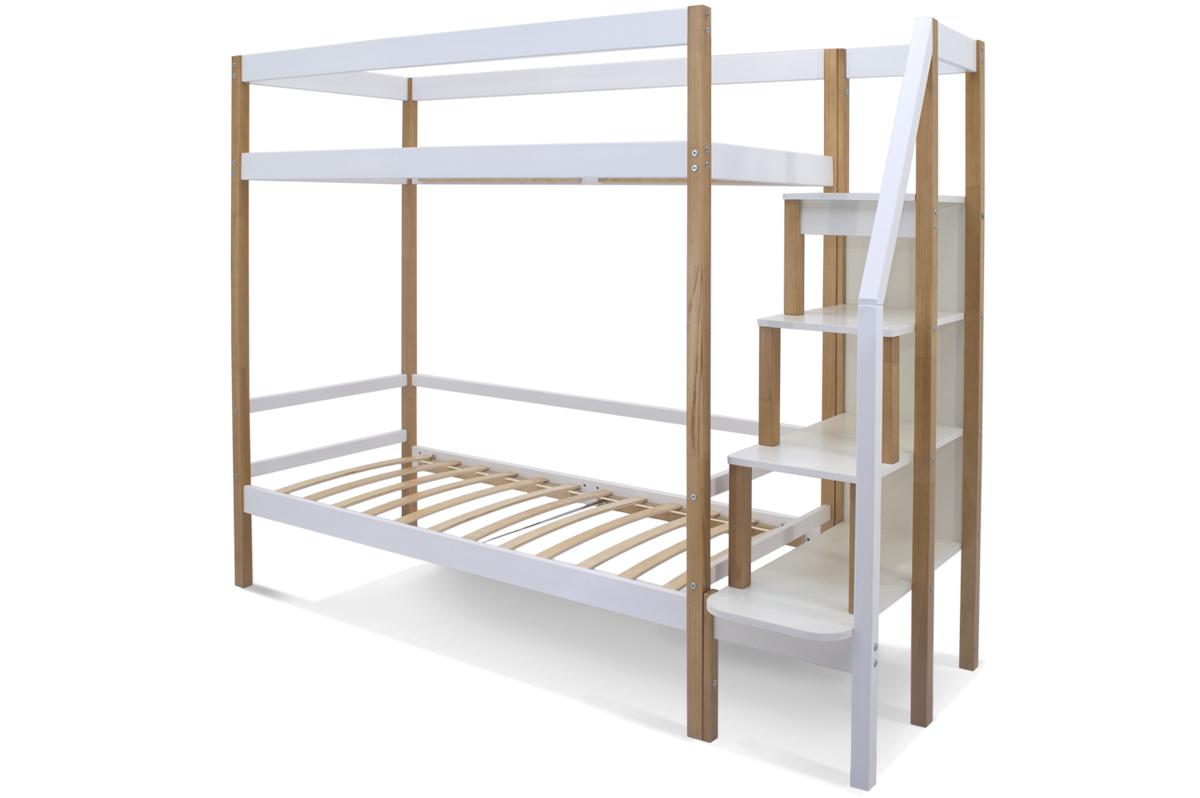 Двухъярусная кровать «Svogen» дерево-белый