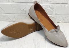 Балетки женские кожа туфли лодочки без каблука Wollen G036-1-1545-297 Vision.