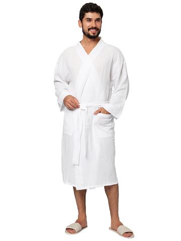 Белый муслиновый халат