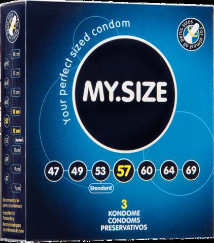 Презервативы MY.SIZE размер 57 - 3 шт.