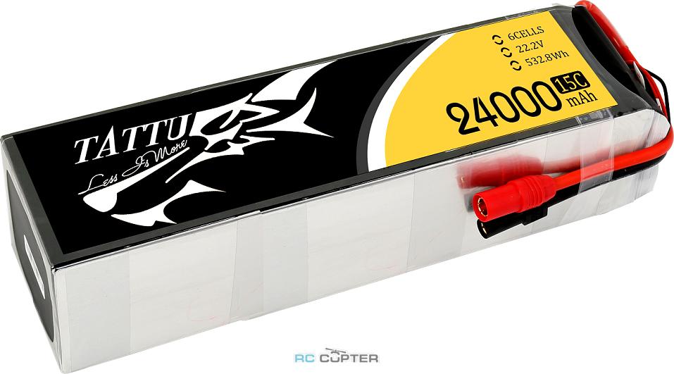 АКБ Gens Ace Tattu 24000mAh 22.2V 25C 6S1P Lipo Battery Pack
