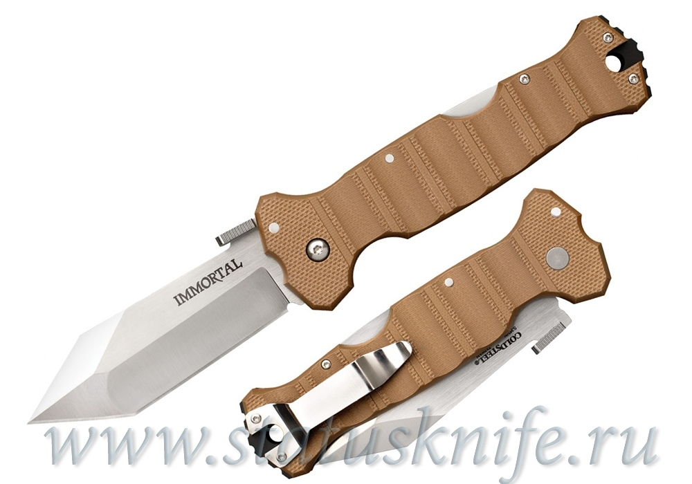 Нож Cold Steel Immortal S35VN Coyote Tan 23HVB - фотография