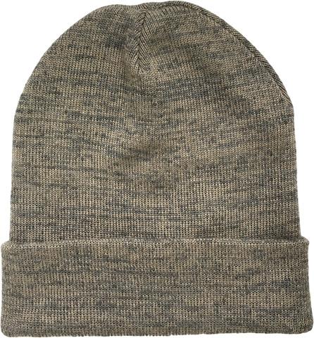 Зимняя шапка бини с отворотом