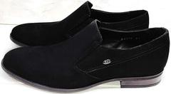Свадебные мужские туфли под костюм Ikoc 3410-7 Black Suede.