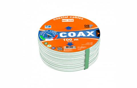 Коаксиальный телевизионный кабель SAT-703E AVS Electronics (100 м)