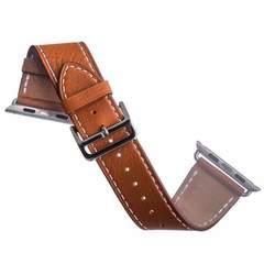 Ремешок кожаный COTEetCI W8 DECOROUS (WH5207-KR) для Apple Watch 40мм/ 38мм (классическая пряжка) Светло-коричневый