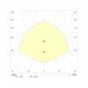 Круглый аварийный светильник встраиваемый в подвесной потолок Starlet White LED SO Intelight – диаграмма светораспределения