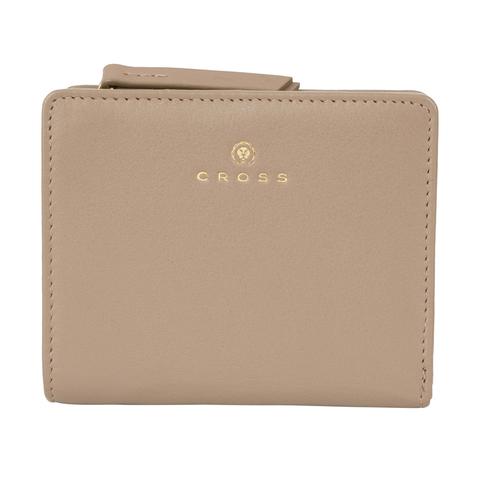 Женский кожаный компактный кошелёк 11х9,5х2см CROSS Monaco Taupe AC898083_1-11