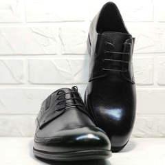 Вечерние туфли классика мужские Ikoc 3416-1 Black Leather.