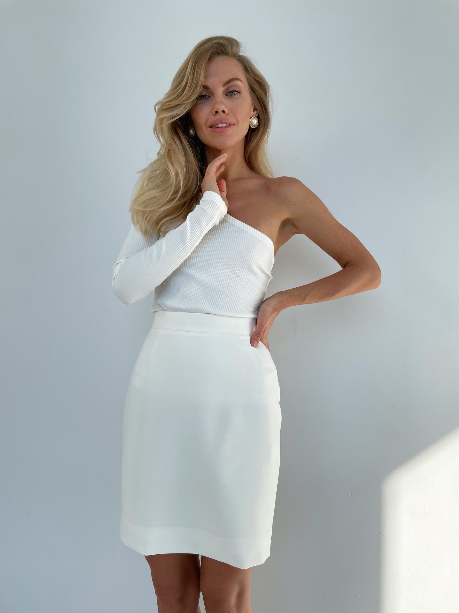 Мини-юбка (белый)