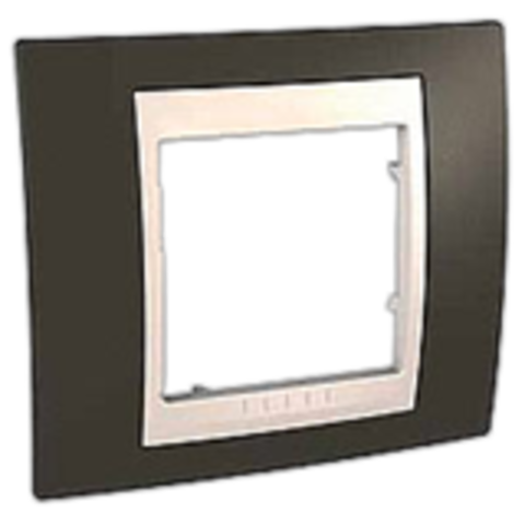 Рамка на 1 пост. Цвет Какао/Бежевый. Schneider electric Unica Хамелеон. MGU6.002.571