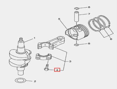 Болт шатуна для лодочного мотора F5 Sea-PRO(3-4)