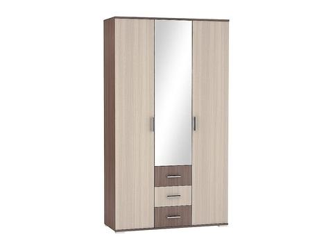 Шкаф трехстворчатый Рошель ШК-803 с ящиками Браво Мебель ясень шимо темный, светлый