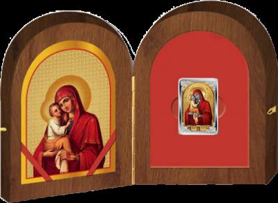 1 доллар. Почаевская икона Божией Матери. Ниуэ. 2014 год