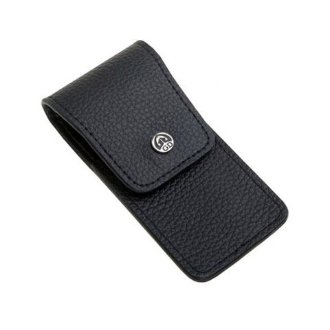 Маникюрный набор GD, 3 предмета, цвет черный, кожаный футляр