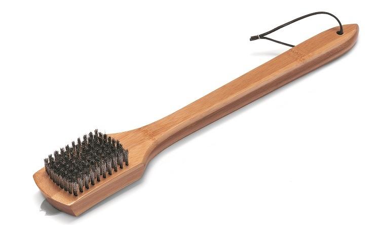 Щетка для гриля с бамбуковой ручкой 46см.