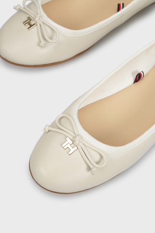 Женские белые кожаные балетки KNOT BALLERINA Tommy Hilfiger
