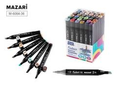 Mazari Fantasia набор маркеров для скетчинга 36 шт двусторонние спиртовые пуля/долото 3.0-6.2 мм (архитектурные)