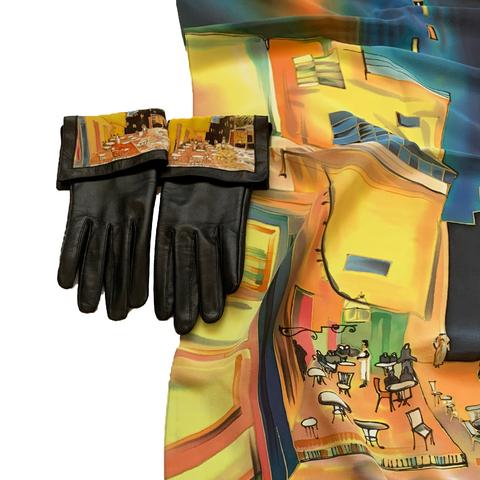 Кожаные перчатки Ван Гог Кафе
