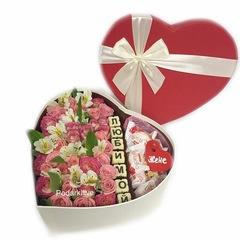 Цветы+буквы шоколадные+рафаэлло