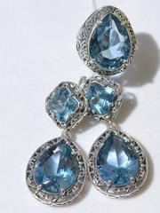 Лувр (кольцо + серьги из серебра)
