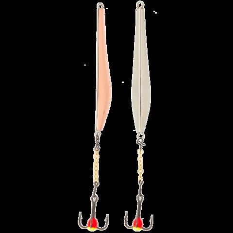 Блесна вертикальная зимняя LUCKY JOHN Double Blade (цепочка, тройник), 40 мм, CS