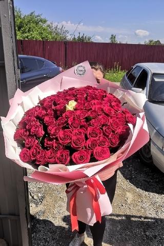 101 импортная роза 55 см