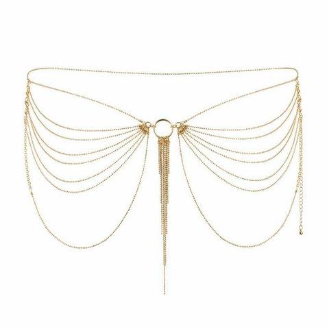 Bijoux Indiscrets Magnifique Waist Chain Jewelry Бикини-цепочка Золотая