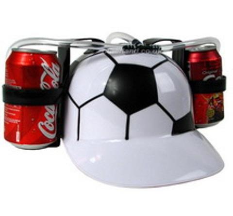 Каска с подставками под банки пива «Футбол»