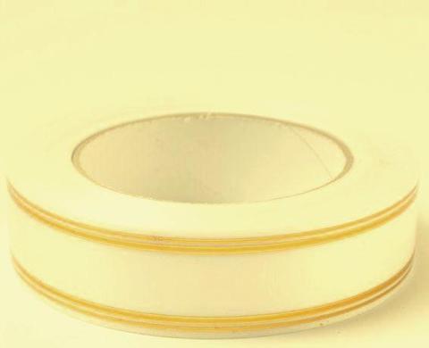 Лента золотая полоса PL (размер: 2 см х 50 ярдов) Цвет: кремовый