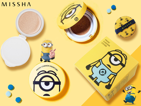 Распродано - Кушон Missha Minions Edition M Magic Cushion Moisture Special Set SPF50 /PA, 15 мл+15 мл