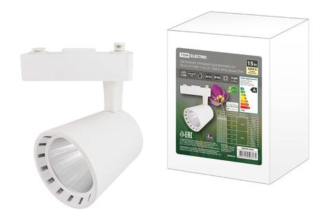 Светильник трековый однофазный LED TRL-01-015-WW 15 Вт, 24°, 3000 К, 80 Ra, белый, TDM