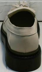 Светло бежевые туфли на маленьком каблуке Markos S-6 Light Beige.