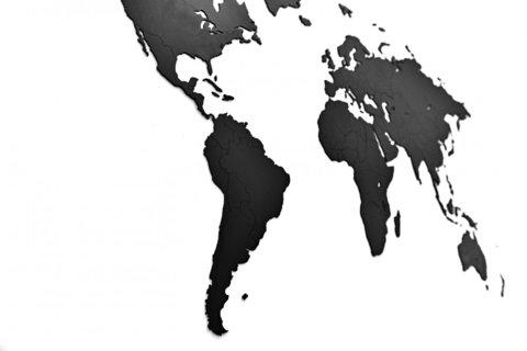 Карта мира Wall Decoration Black 180 x 108 cm