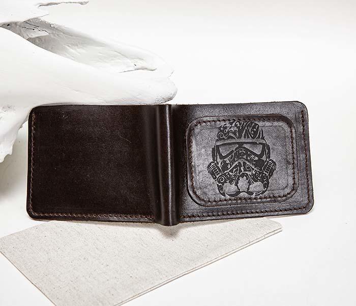 WB158 Мужской кошелек с изображением имперского штурмовика, «Boroda Design» фото 10