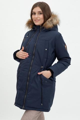 Куртка-парка 2 в 1 для беременных 11902 синий