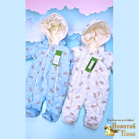 Комбинезон детский на велюре (68-80) 210220-Р7836