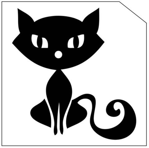 Трафарет для блеск-тату 6*6 кошка 162К